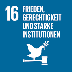 Frieden, Gerechtigkeit und starke Institutionen - Ziel 16
